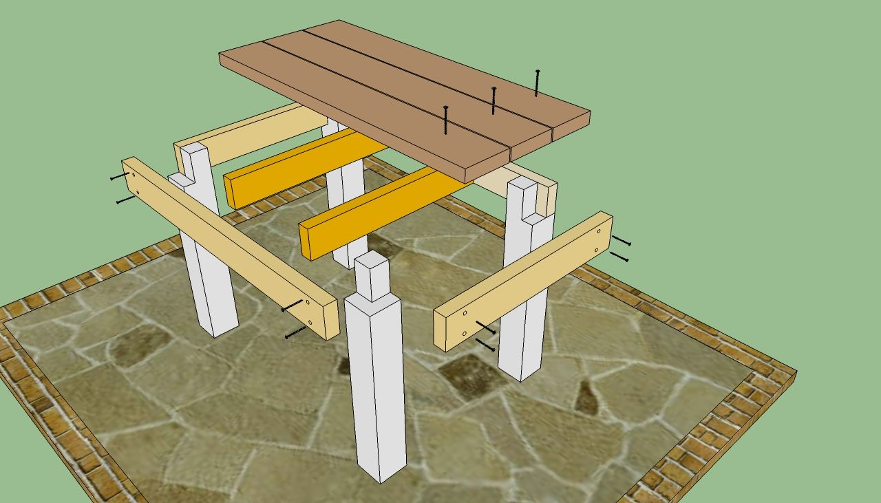 Diy Outdoor Table | Diy Outdoor Tables Plans PDF Plans Download How To Build  Blueprints .