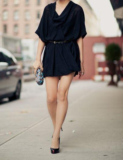 Vestido preto (Fazer mais comprido e colorido)