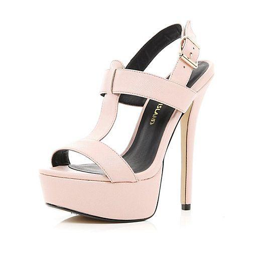 River Island T-bar sandals - pink ECSBXXnNn