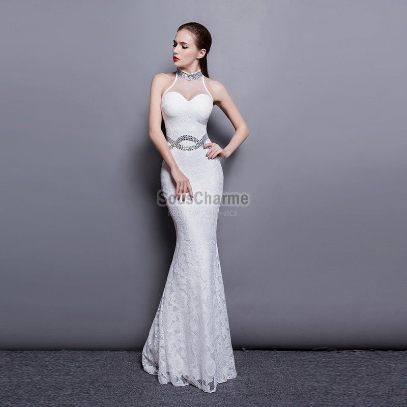 Robe longue pour mariage blanche