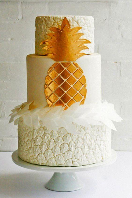 Gateau des anges et ananas