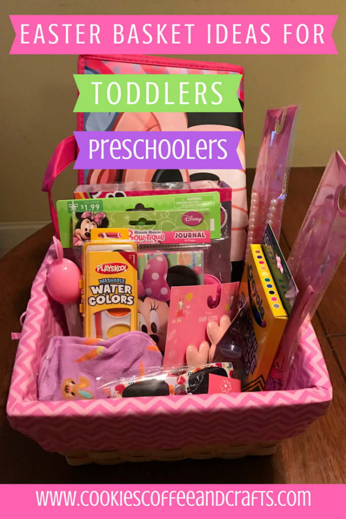 41 easter basket ideas for toddlers and preschoolers easter 41 easter basket ideas for toddlers and preschoolers cookies coffee and crafts negle Choice Image