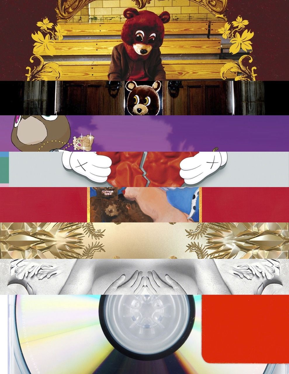 Kanye West College Dropout Graduation 808 Hearbreak My Beautiful Dark Twisted Fantasy W Kanye West Albums Beautiful Dark Twisted Fantasy My Favorite Music