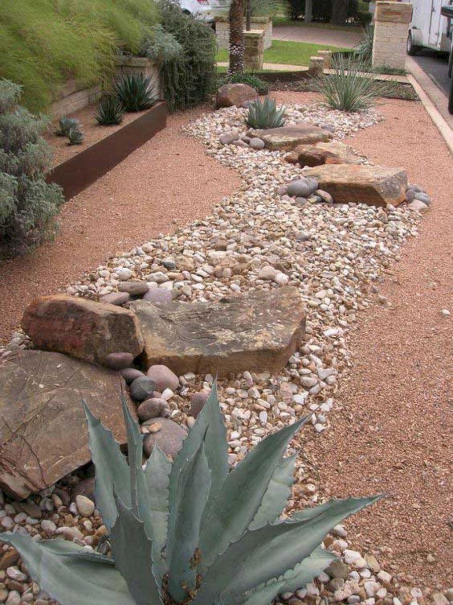 Fabulous Front Yard Rock Garden Ideas (43 Low water