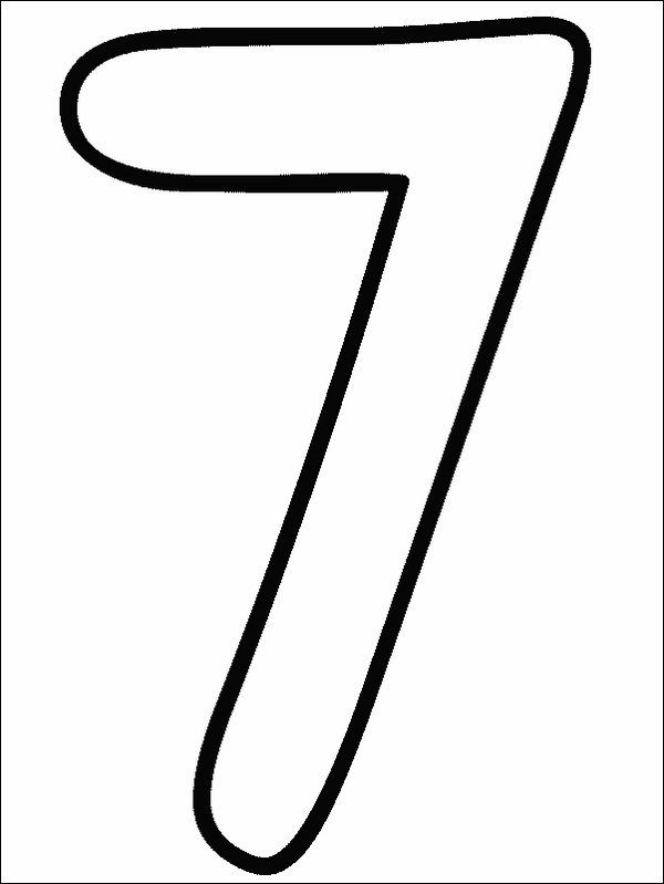 number 7 coloring page. Numbers Coloring Page  Print pictures to color at AllKidsNetwork com