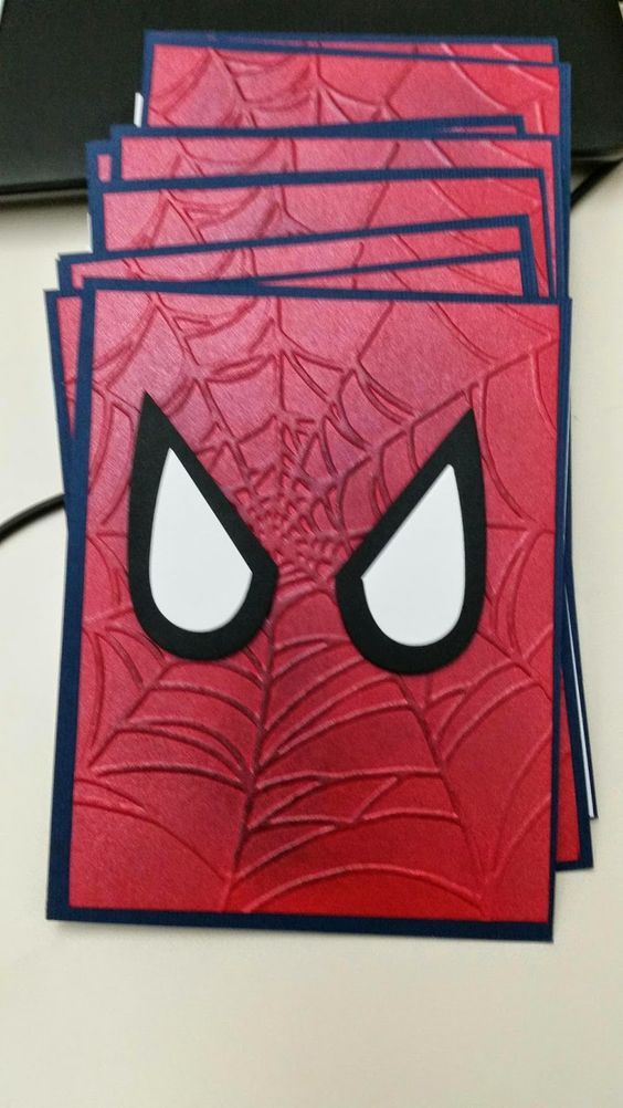 Sharon It With You: Spider Man Invites And Thank You Cards: