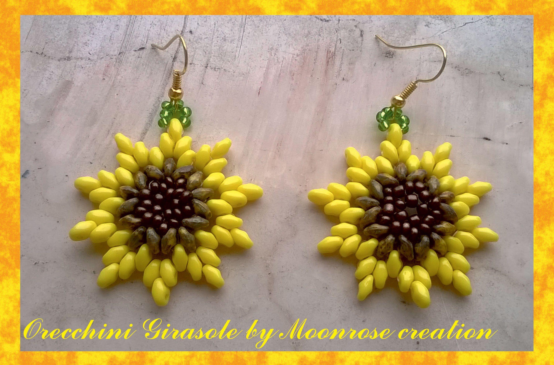 7435d4290 Orecchini Girasole (tutorial Sunflower Earrings) | turorials ...
