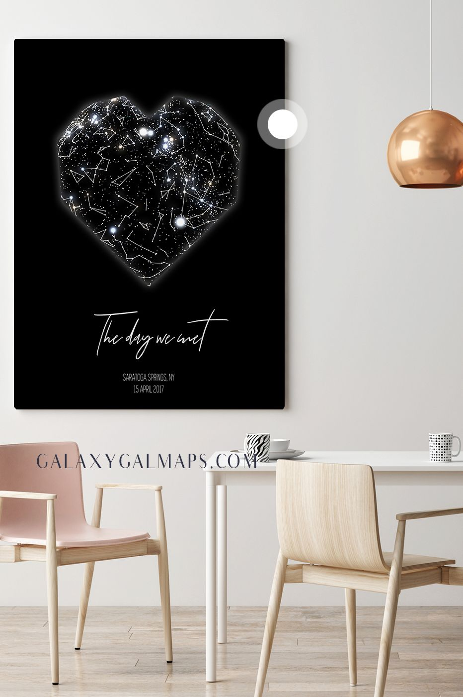 Birthday Star Map.Unique Sky Map For Your Date Star Map By Date Wall Art Wall