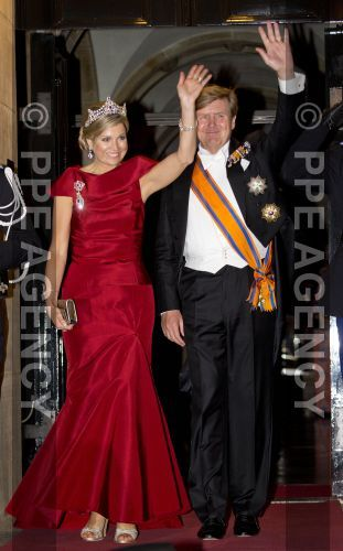 Royals & Fashion - King Willem Alexander and Queen Maxima held a dinner in honor of the diplomatic corps, at the Royal Palace of Amsterdam.