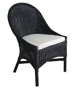 Excellent Casco Bay Black Wicker Dining Chair Home Decor Inspiration Inzonedesignstudio Interior Chair Design Inzonedesignstudiocom