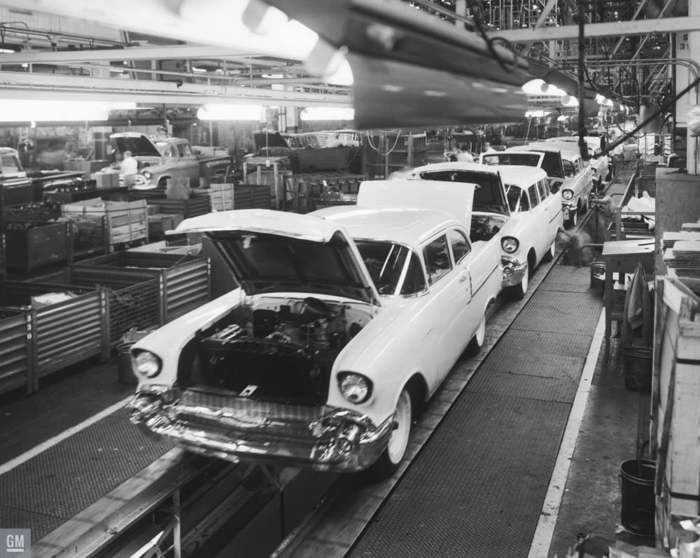 1957 Chevrolet Assembly Line | GM Photos of Assembly ...