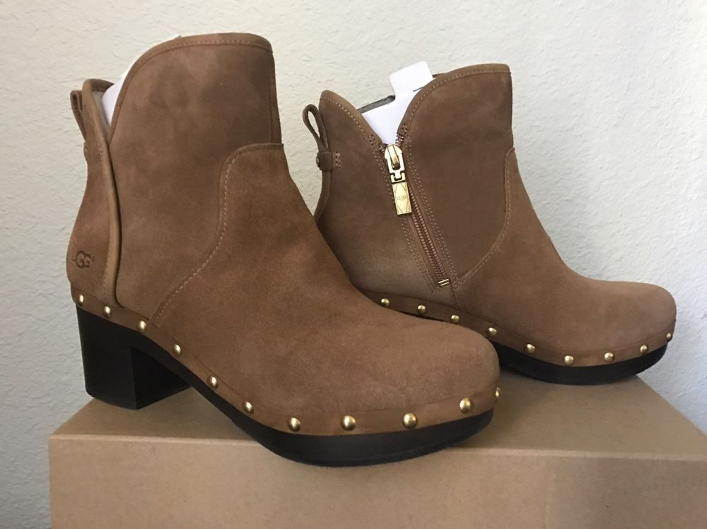 b38fa82707 NIB Women s Shoes UGG Cam II Platform Ankle Clog Boots Chestnut Size 7  UGG   AnkleBoots  Casual