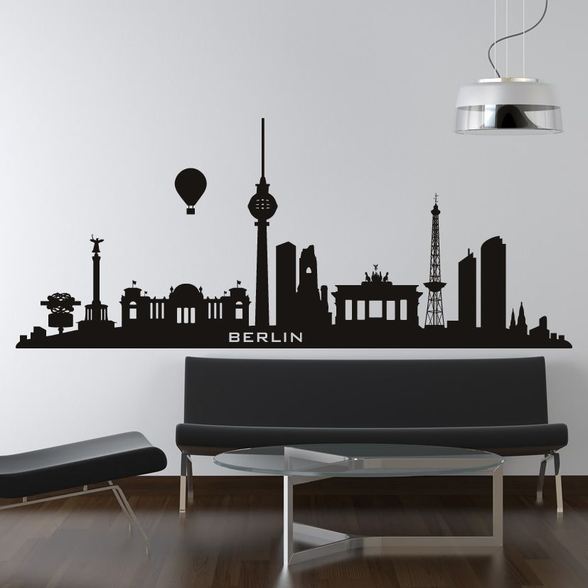 Berlin Germany Skyline Cities Wall Art Decal Wall Stickers