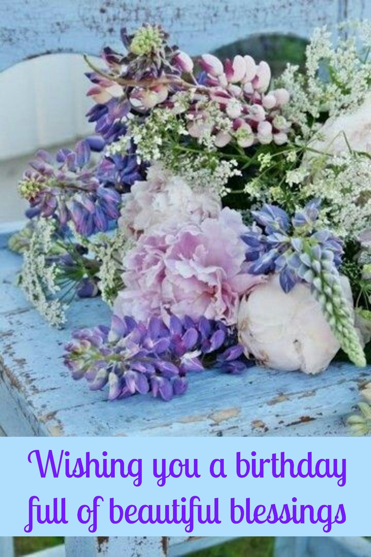Pin by tammy smith on fbtext birthday cards pinterest blue tables flower arrangement floral arrangements beautiful flowers birthday cards purple flowers flower power firenze italy pink clouds izmirmasajfo