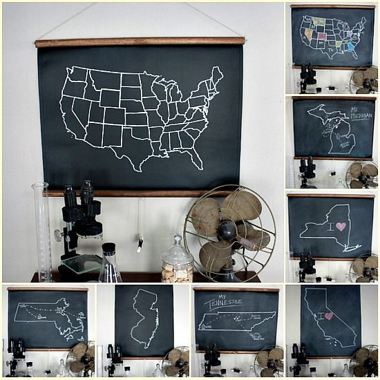 chalkboard maps history geography teach pinterest