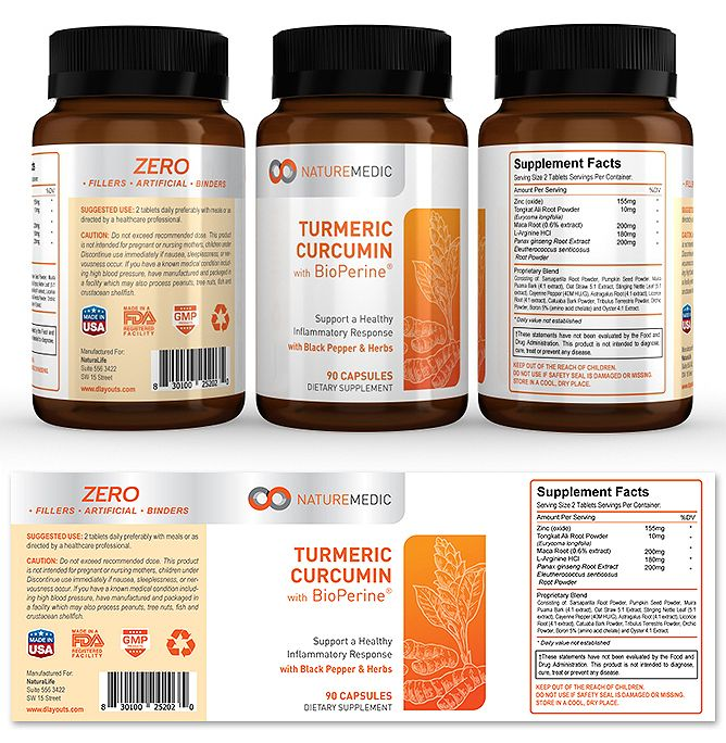 Turmeric Curcumin Supplement Label Template http\/\/wwwdlayouts - packing label template