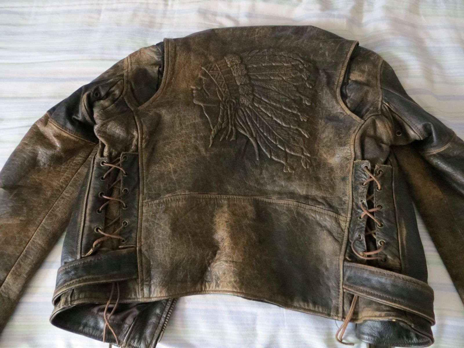 Indian Motorcycle Brown Leather Jacket