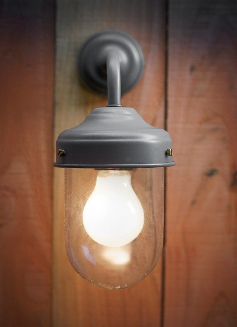 A stylish outdoor wall light in charcoal gardening and outdoors a stylish outdoor wall light in charcoal aloadofball Images