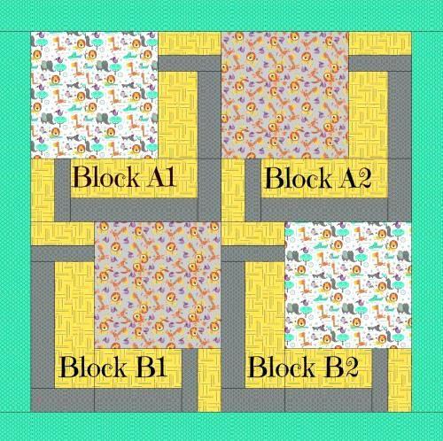 Big Block Rag Quilt Patterns Big Block Jungle Quilt Simple Big Block