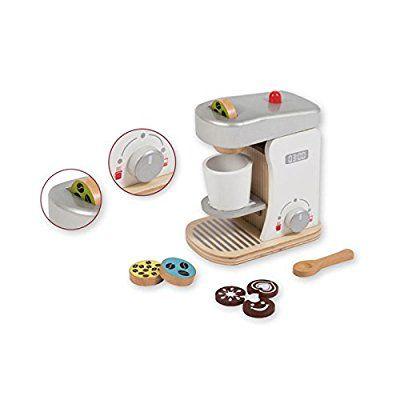Jouéco Kinder Kaffeemaschine Kaffeeautomat Kaffeekaspelmaschine Zubehör Für  Die Spielküche Holzküche Aus Holz