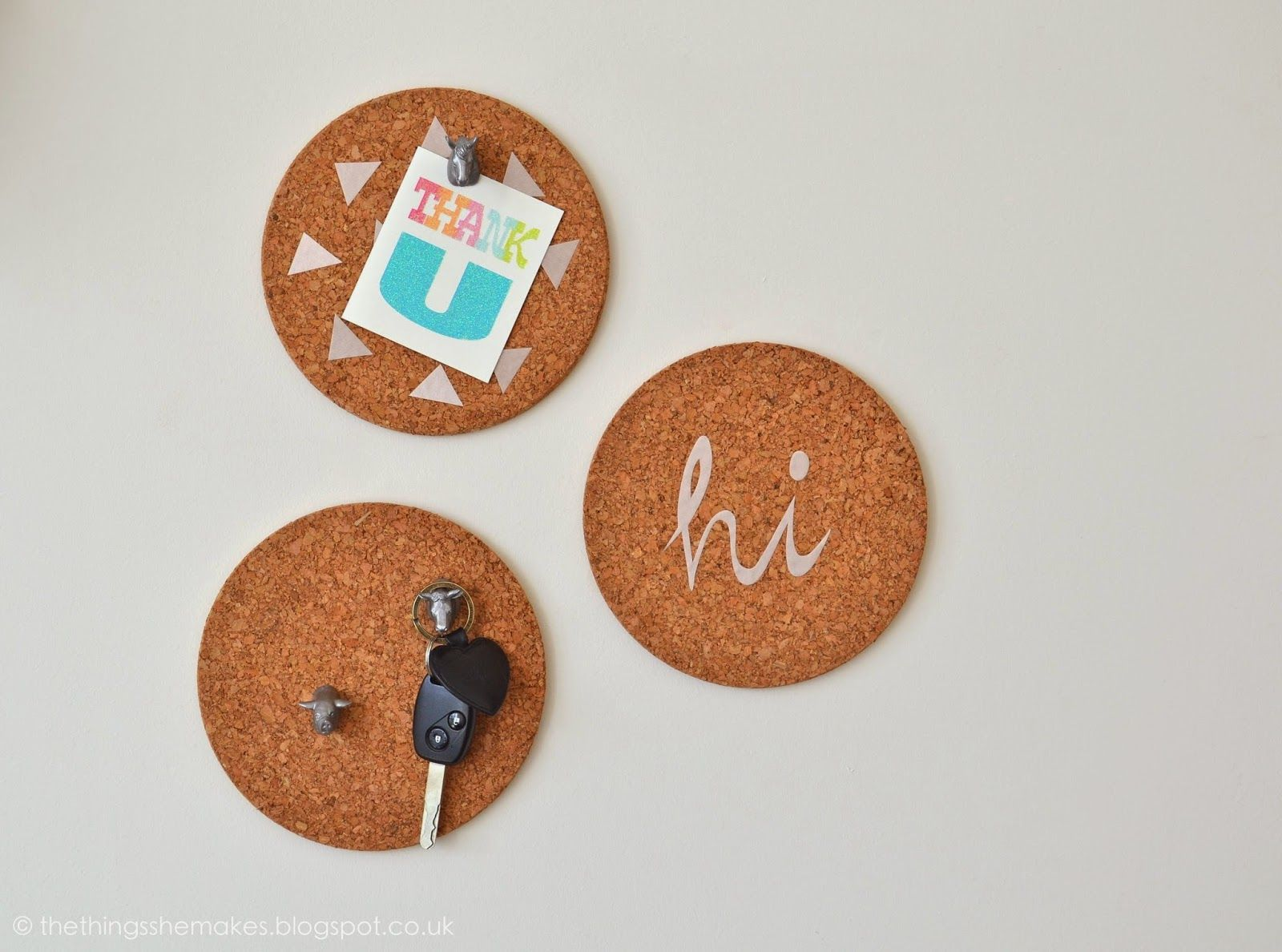 How to Make Mini Pinboards - for keys etc. by the back door?