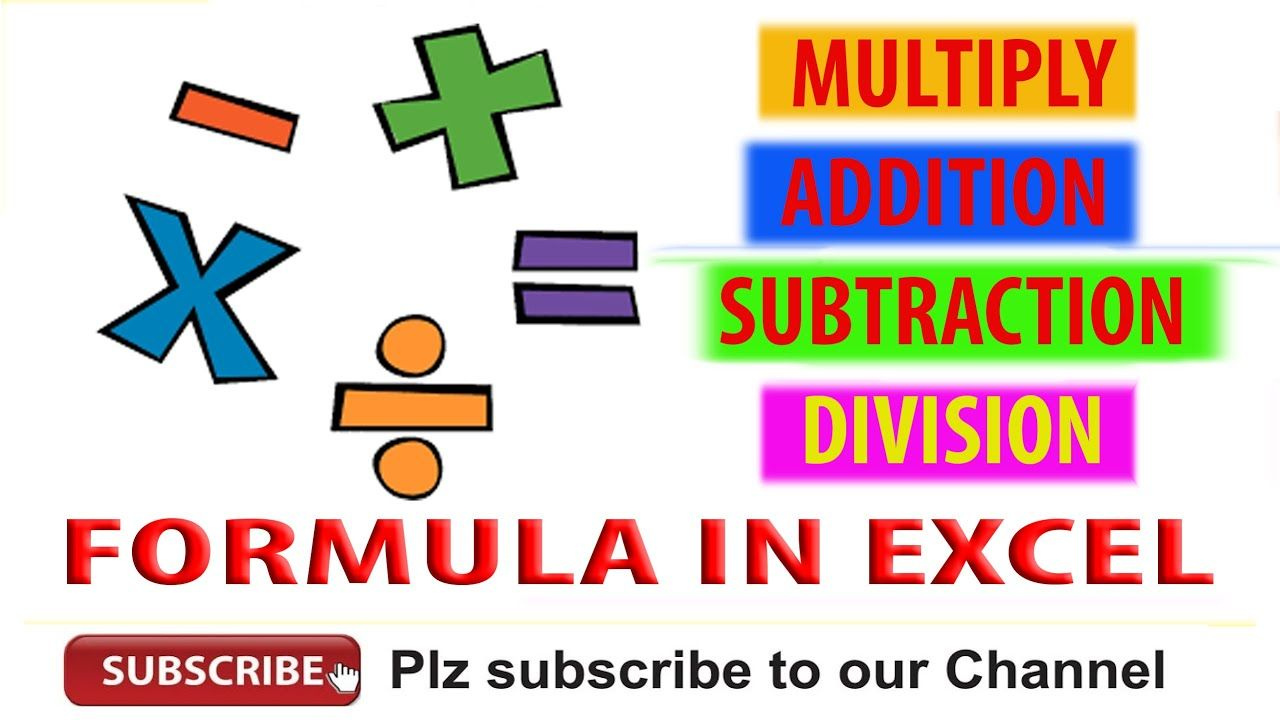 How To Use Multiplication Addition Subtraction Or Division Formula In Subtraction Data Sheets Formula Multiplication addition and subtraction