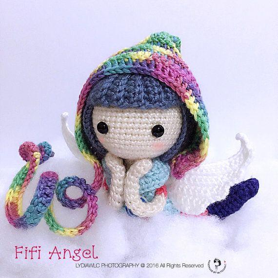 Crochet Doll Pattern - Angel Fifi 菲菲   Patrones de muñecas ...