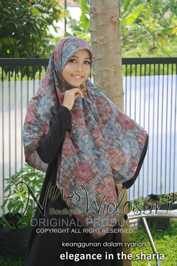 Safeera 2f 06 Material Katun Motif Idr 80 000 Jilbab Syar I Busana Muslim Hijab Segi Empat Hijab Muslim