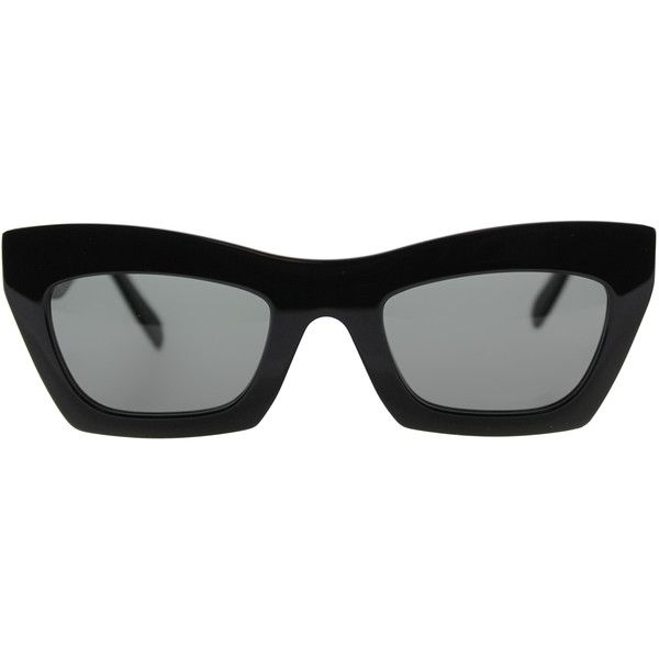76393053f2f Celine Eva CL 41399 807 Black Cat-Eye Plastic Sunglasses (840 AED) ❤ liked  on Polyvore featuring accessories