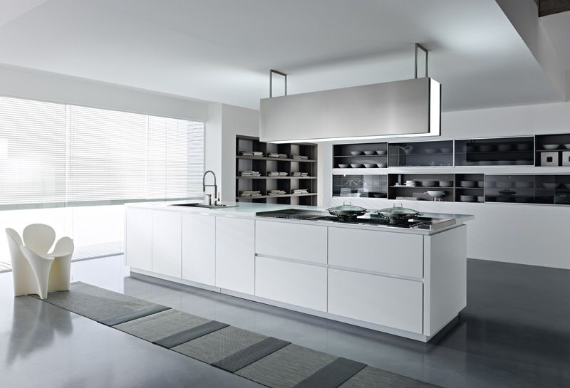 Modern White Kitchens fall in love with black and white glossy kitchen designs