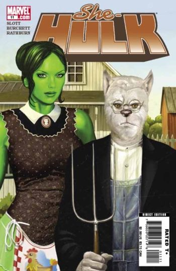 Magazine Covers Using A Parody Of American Gothic By Grant Wood