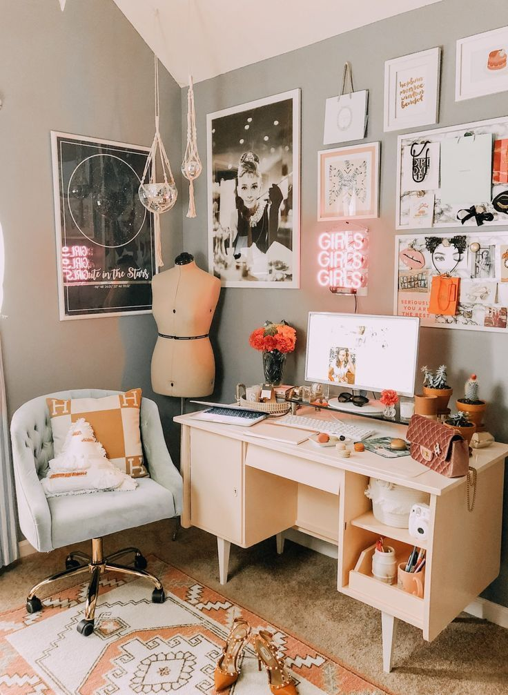 Photo of Bohemian 1980s Inspired Office