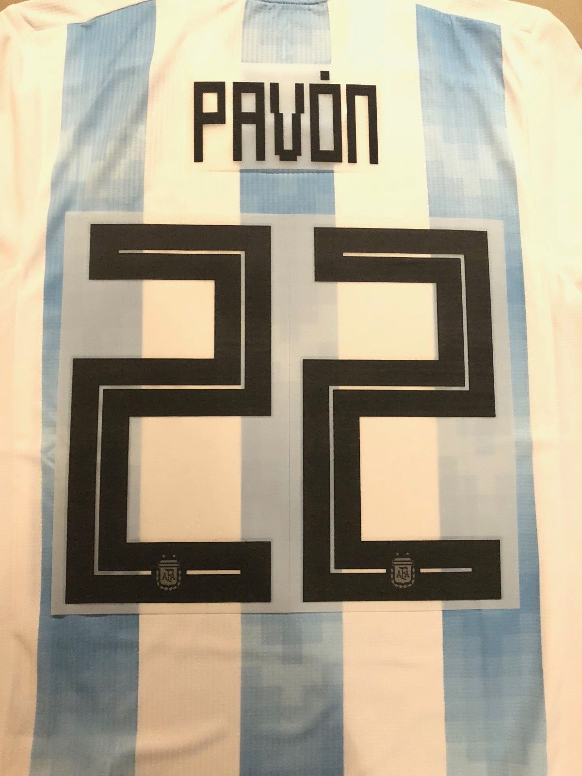 ba799f17f40 PAVON Argentina  22 Name Number Set Professional Size 2018 World Cup  Discount Price 40.00 Free