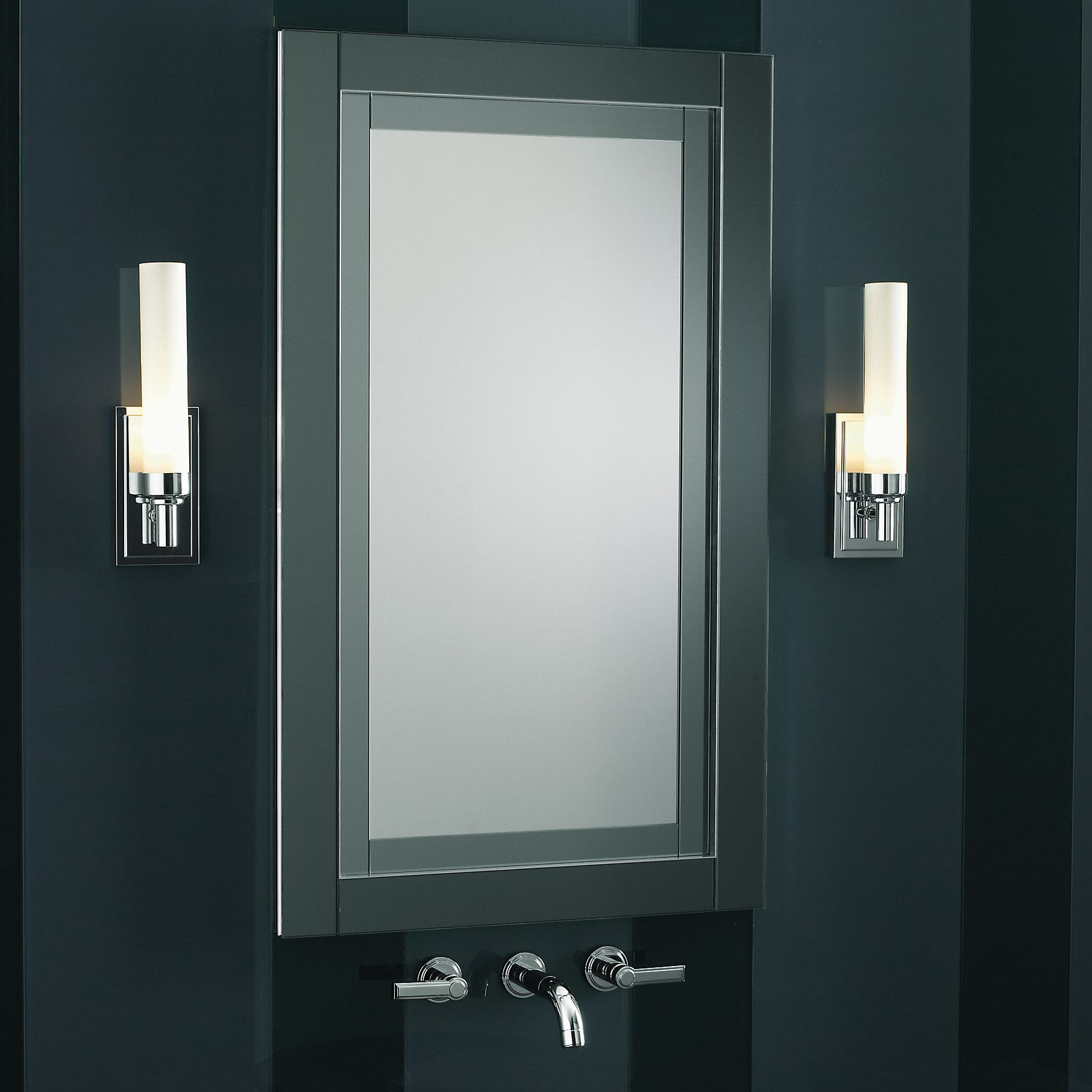 Candre 24 X 40 Mirrored Recessed Medicine Cabinet Recessed