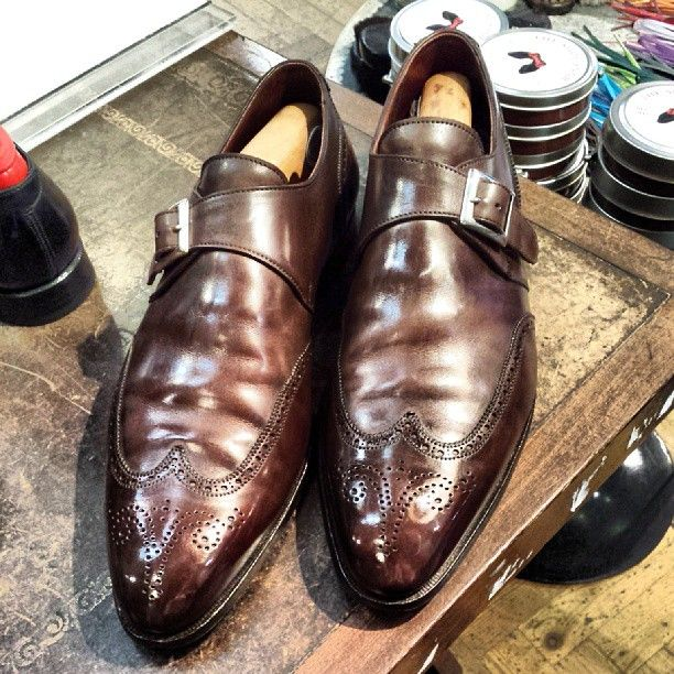 George Cleverley Single Monk Straps  www.theshoesnobblog.com