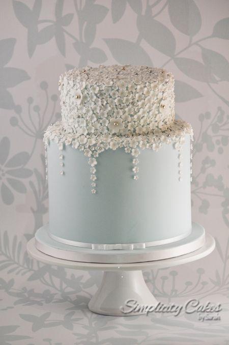 Simplicity Cakes By Sarah Wedding Cake Wiltshire Swindon Blue Blossom
