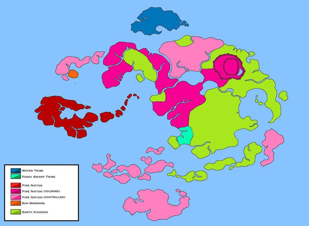 World Of Avatar Political Map Years War By Loudo - The world political map