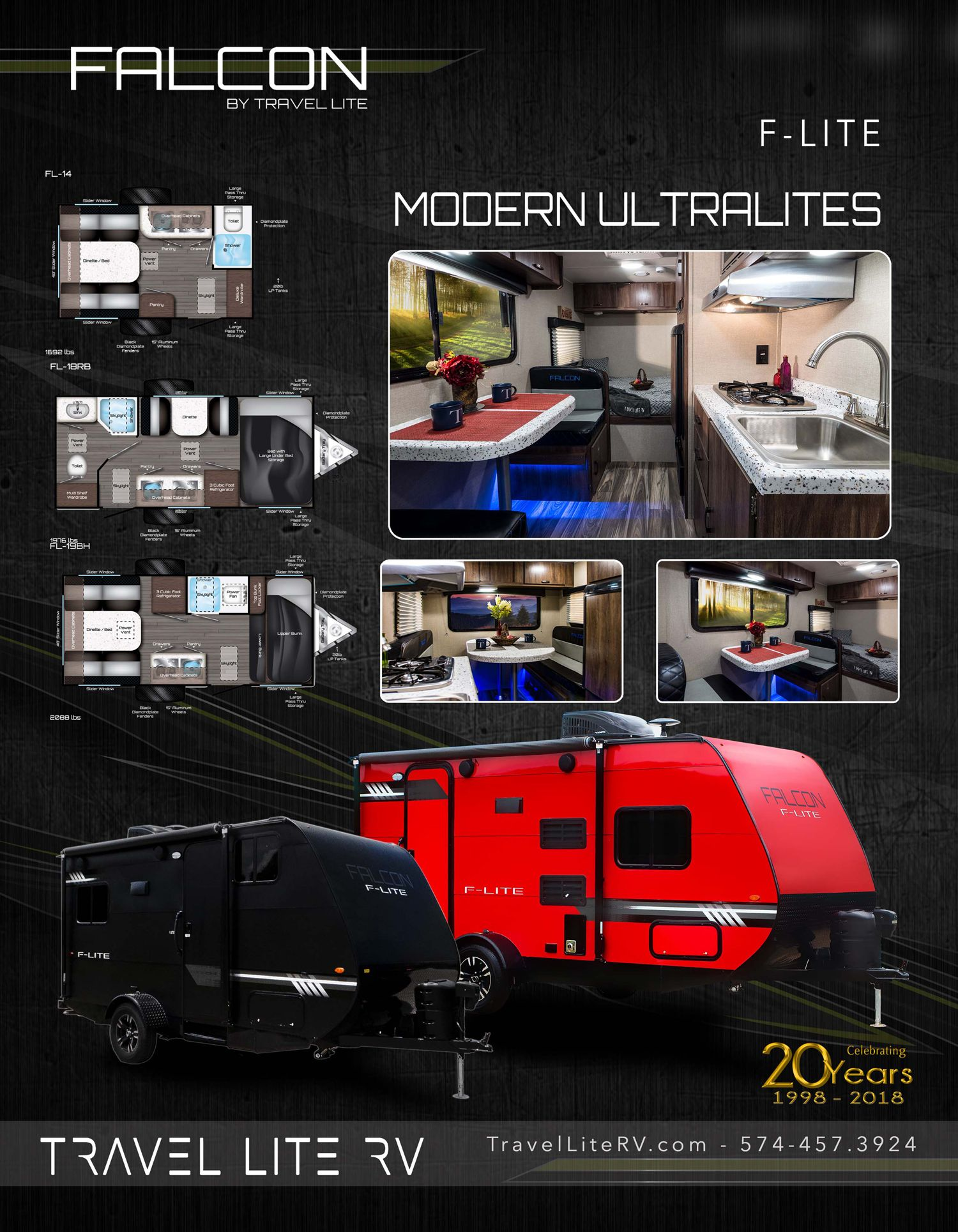 Falcon F Lite Floor Plans 360 Tours And More Travel Lite Rv
