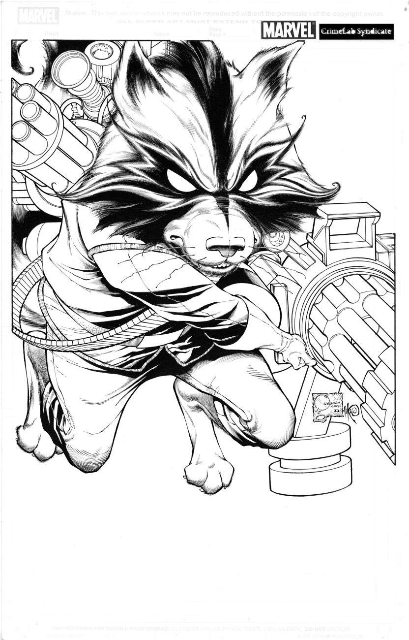 Guardians of the Galaxy Rocket Raccoon by Joe Quesada