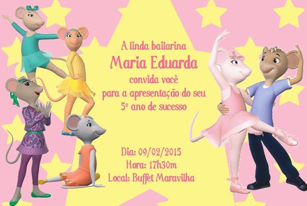 Convite digital personalizado Angelina Bailarina 004
