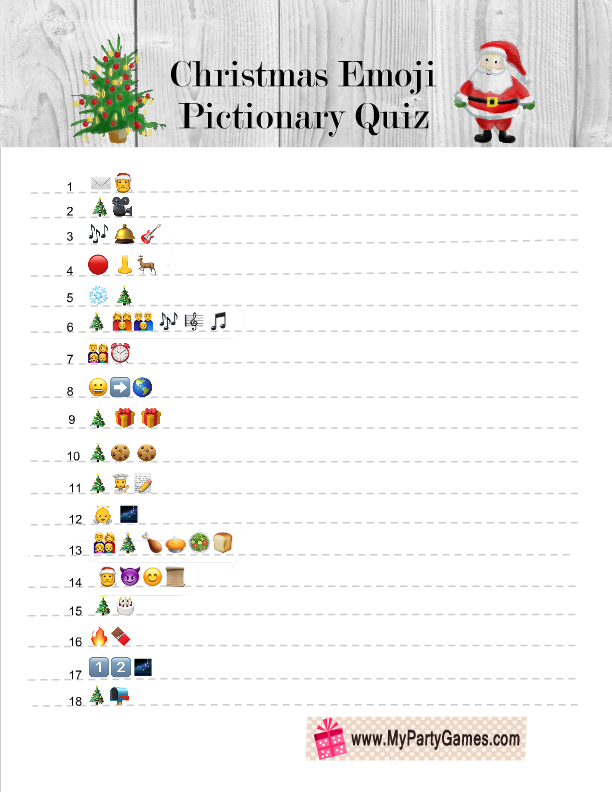 Free Printable Christmas Emoji Pictionary Quiz Printable Christmas Games Free Christmas Printables Christmas Quiz