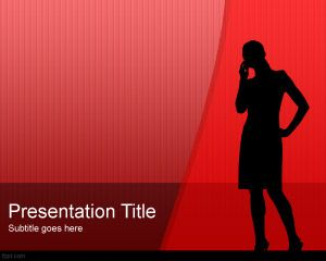 Women Silhouette Powerpoint Template Is A Women Executive