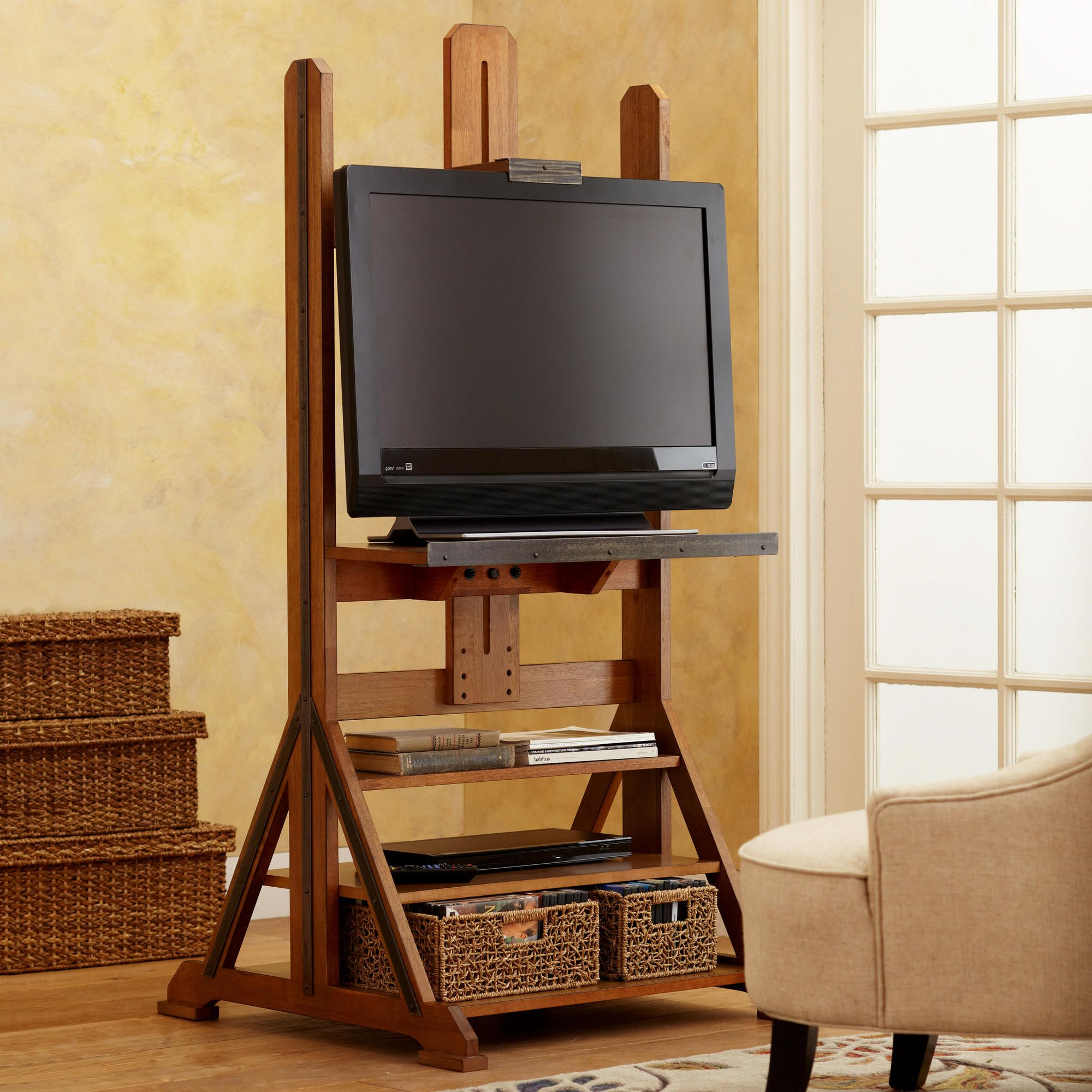 Easel Media Stand | Storage room, Media storage and Apartment ideas