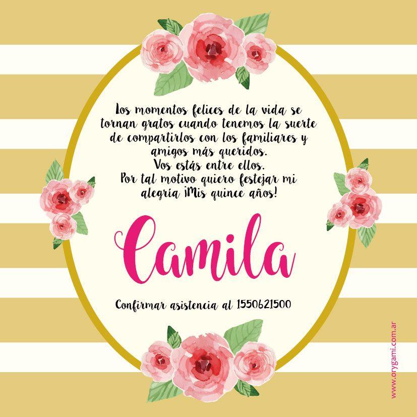 Pin De Jackie Arellano En Camila Frases Para Quinceañeras