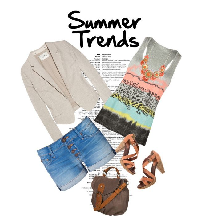 """""""Summer Trends Contest"""" by sweetheartnectar ❤ liked on Polyvore featuring DAY Birger et Mikkelsen, Full Tilt, Hudson Jeans, Madewell, Zad, denim shorts, cross body bags, graphic tank and blazers"""