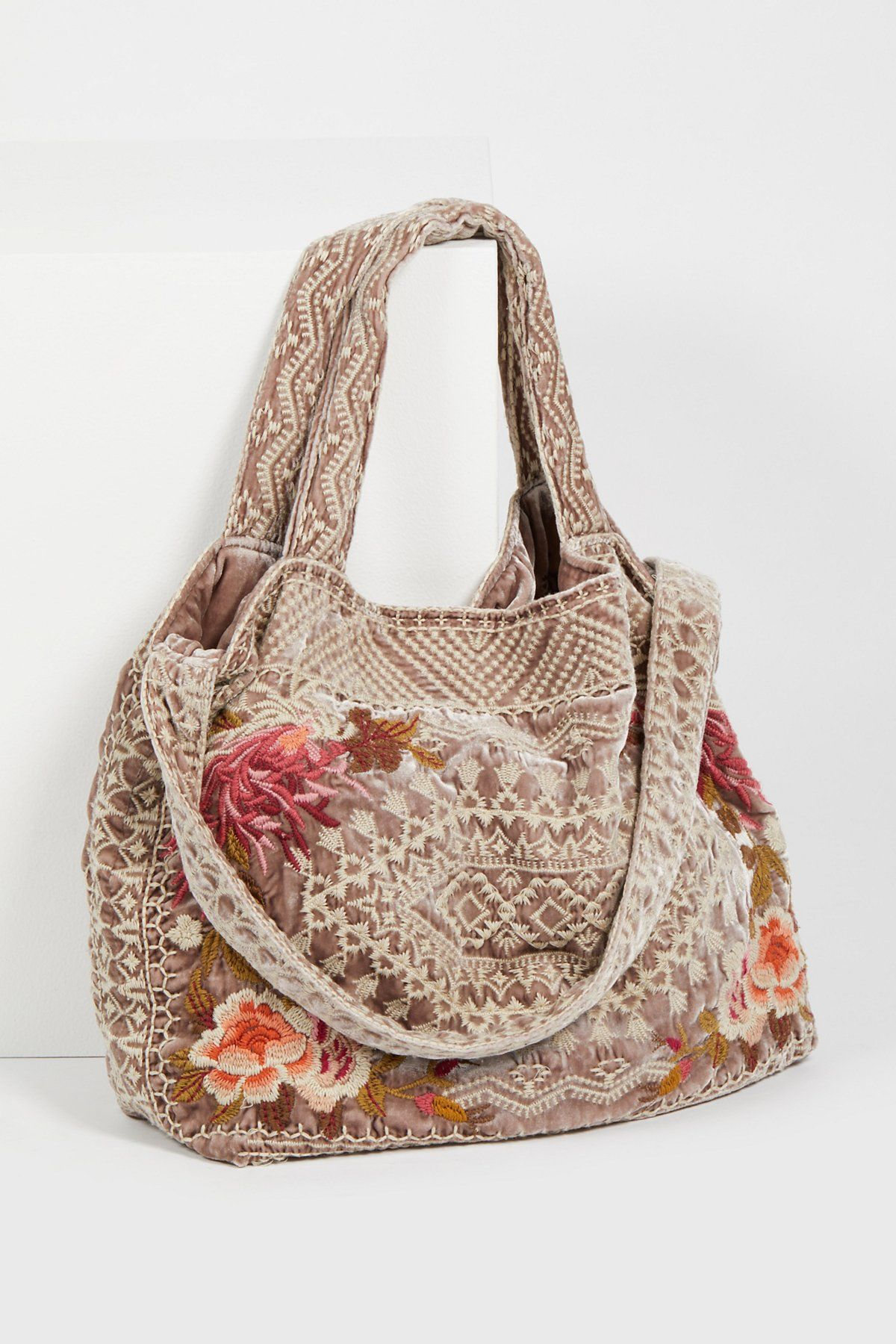 a2f351c501e5 Johnny Was Rose Velvet Bloom Tote at Free People Clothing Boutique