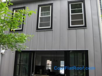 Standing Seam Panels As Siding Metal Roof Roofing Jobs Metal Siding House