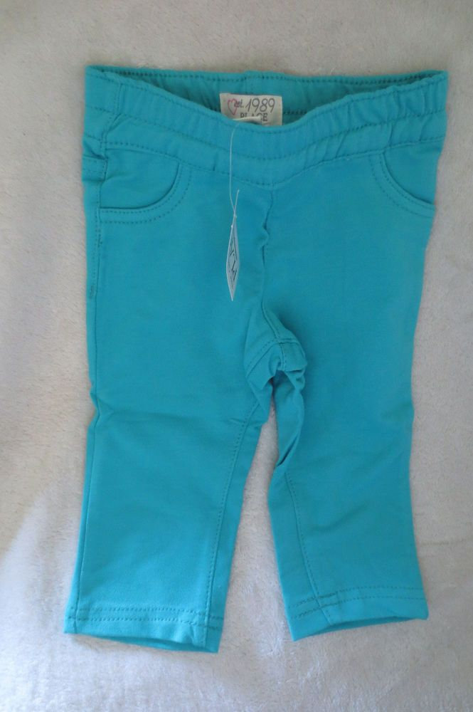 The Children Place Baby Girl Blue Grotto Pants Size 9 12 Months New