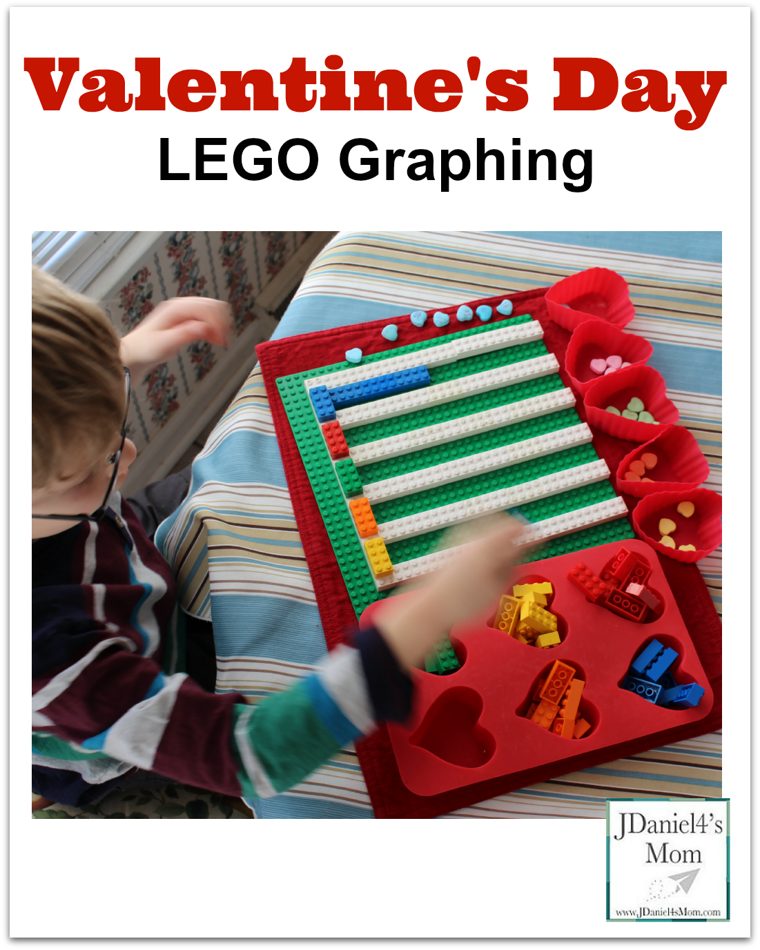 Math Is Fun Valentine S Day Lego Graphing Adding Red Bars