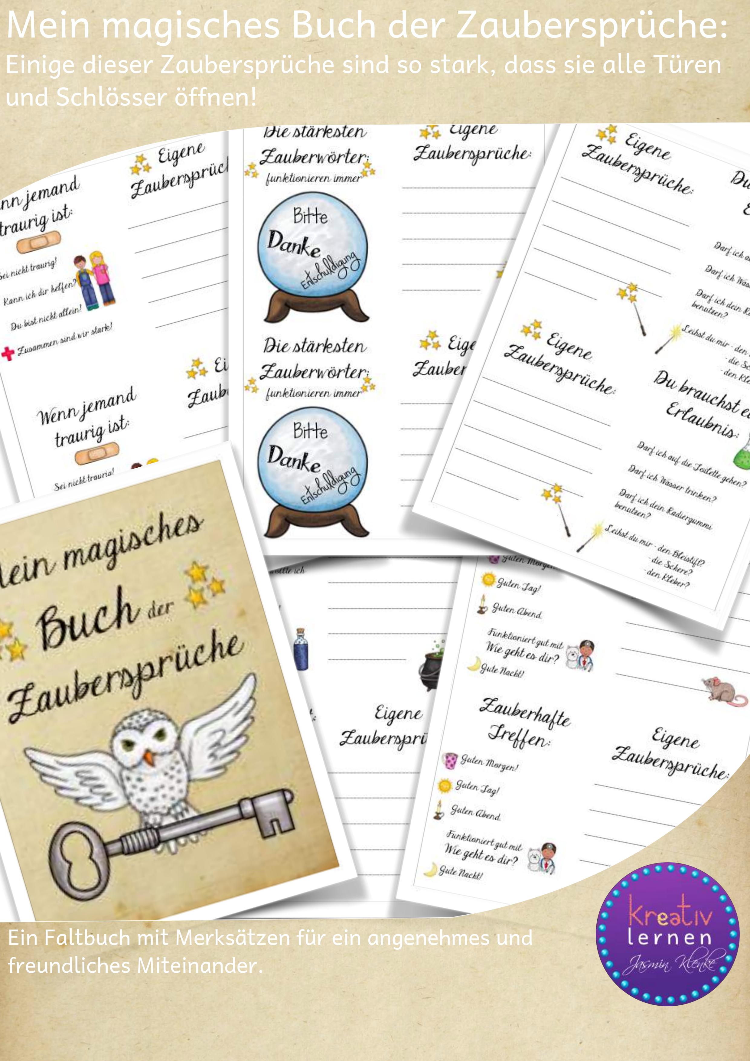 Mein Magisches Buch Der Zauberspruche Unterrichtsmaterial Im Fach Fachubergreifendes Magisches Buch Zauberspruche Bucher